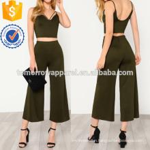 Strappy Neck Top & Pants Manufacture Wholesale Fashion Women Apparel (TA4035SS)