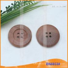 Botón de madera Botón de costura Botón redondo BN8033