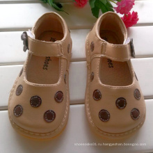 Абрикосовые полы Очки Squeaky Shoes Детская обувь для девочек