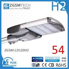 Impermeável a luz de rua LED 120W para iluminação de rua ao ar livre com alta eficácia luminosa