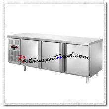 R155 1.5m / 1.8m 3 portes Fancooling / réfrigération statique réfrigérateur / congélateur Undercounter