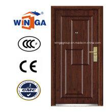 Puerta blindada de madera de MDF de la seguridad del diseño clásico (W-A3)