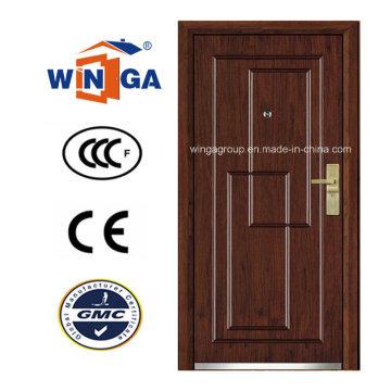 Classic Design Security Steel MDF Wood Veneer Armored Door (W-A3)