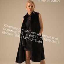 Frauen Reversible Kopenhagen Mink Weste Winter