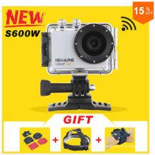 IShare S600W WiFi ação esporte câmera FHD 1080p 30m impermeável capacete esporte câmera de vídeo mini DV Gopro estilo