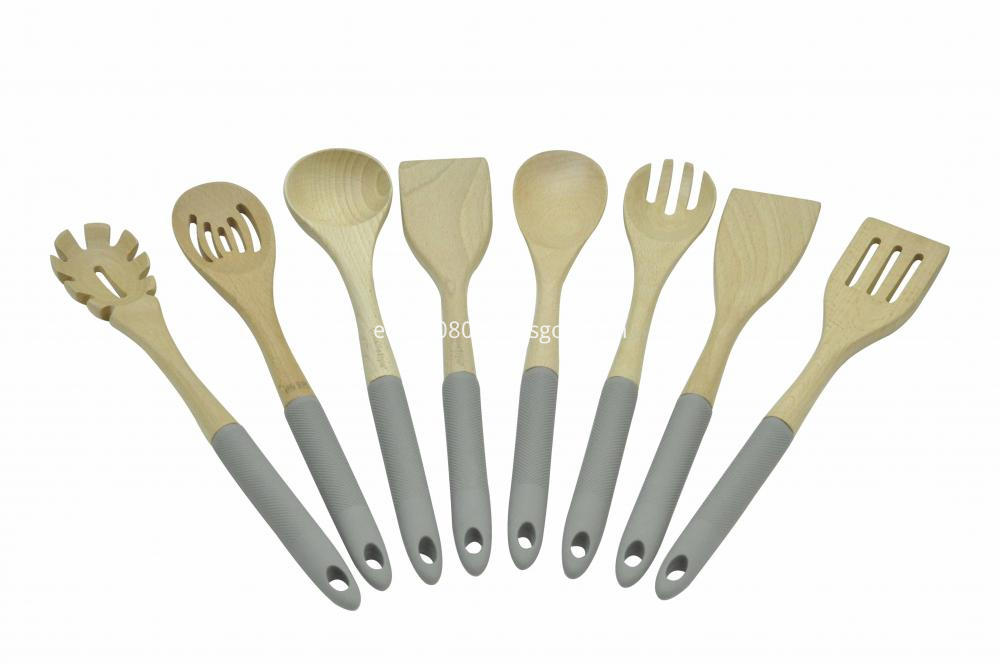 Wooden Kitchen Tools Set