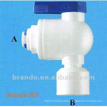 Vanne à bille NPT Thread POM avec connecteur de raccord rapide utilisé dans le traitement de l'eau