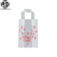 Sac à provisions de HDPE de sac de poignée de boucle fort fait sur commande de belles lettres imprimé pour le café ou le thé