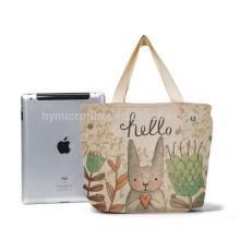 Cargue el bolso de compras del yute de lino de 100kg que lleva al por mayor