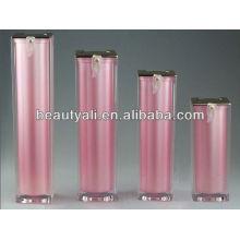 Botella airless acrílico cuadrado para el embalaje cosmético