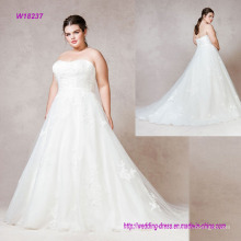 Soft Dreamy Tulle Classic A-Line Strapless Wedding Dress