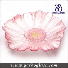 Flor em forma de vidro prato de frutas (GB1720 / p)