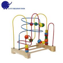 Дети Образования игрушки Оригинальные классические деревянные каботажное судно Bead Maze игрушки