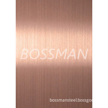 201 Rose Gold Color Brushed Finished Stainless Steel Plate