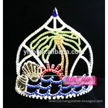delicated crystal summer holiday beach tiara