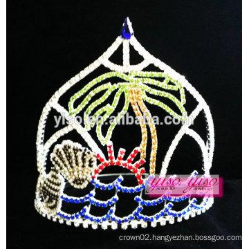 delicated crystal summer holiday beach tiara