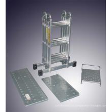 Escalera de aluminio de uso múltiple Escalera de andamiaje