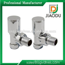 JD-6135 - Válvula de radiador angular em latão cromado