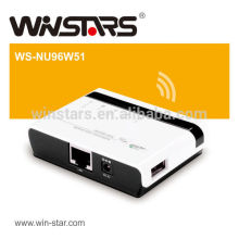 wireless USB Multi-Function Printer server,802.11b/g/n wireless networking