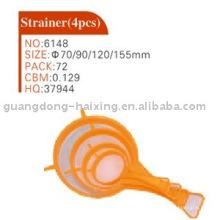 plastic strainer(4pcs)