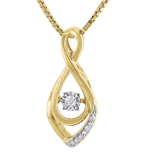 18k Gold Plate 925 Silver Dancing Diamond Jewelry