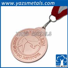 Medalla de cobre de la novedad, medalla de cobre amarillo