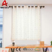 2018 nouvelle arrivée feuille neige imprimé rideaux de fenêtre de lin pour la maison et l'hôtel