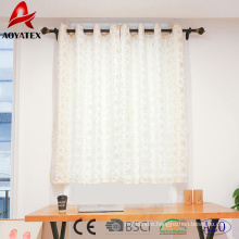 2018 new arrival foil snow printed linen window curtains for home and hotel