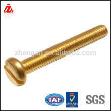 pan head slotted brass Screw