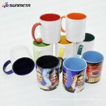 Sunmeta sublimação cerâmica caneca interna cor identificador 11oz --- fabricante