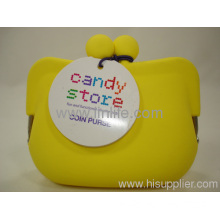 Authentic New Candy Store Yellow Silicone Framed Coin Purse/pouch/bag