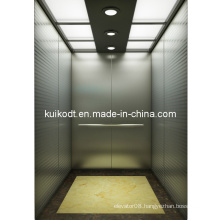 Residential Stretcher Elevator with Etching Hairline Stainless Steel (KJX-DJ04)