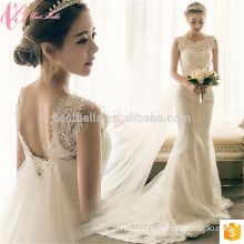 Lace Patch Shanghai Ivory Satin Lace Wedding Dress Bridal