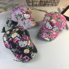 Новые шапки с 3D вышивкой Hello Kitty Girl kid