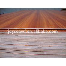 Chapa natural roble blanco / arce / abedul / cereza alta calidad madera contrachapada prueba de agua para la decoración del hogar