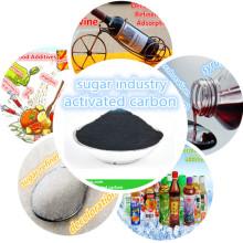 carbón activado aplicado a descolorar glutamato