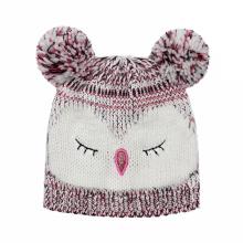 Kinder Baby Kinder gestrickte Eule Druck Stickerei Hut warme Mütze (HW632)