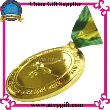 Metall-Sport-Medaille mit kundengebundenem 3D Logo-Gravur