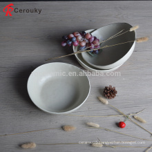 Hot selling ceramic bowl irregular shape ceramic soup bowl