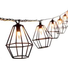 8.5FT 10 Bulbs 110V Metal Diamond Garden Light