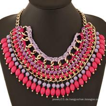 Großhandel neuesten handgefertigten Halskette afrikanischen Perlen Halskette