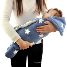 Polyester Baby Swaddle Wrap With Hood Blanket