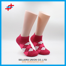 No Show Girls Red Low Cut Socks