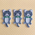 Cats Clothing Patches Iron on Stripes Badges Stickers