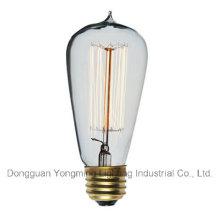 25W / 40W / 60W 19 Âncoras St64 Edison Bulb com ponta superior