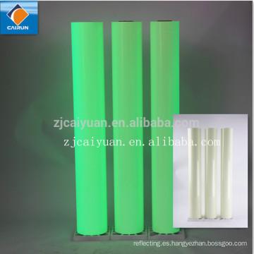 CY nuevos productos del PVC Material reflectante noche película resplandor, resplandor en el oscuro, reflexivo de la película