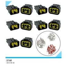 Enchufe sellado alambre del conector eléctrico del coche impermeable de 8way 10A 2.3mm