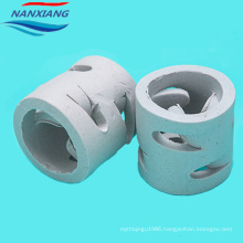 Chemical random packings 50mm ceramic pall ring for absorption and tower packing
