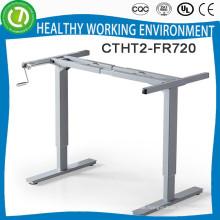 ropa mujer manual crank laptop and printer desk frame adjustable height study desk frames