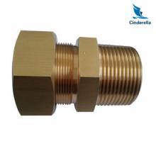 Peças de válvula de tubagem de usinagem do torno CNC de latão